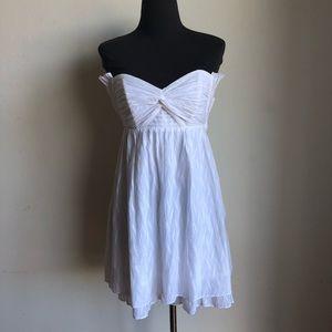 Guess sz 6 cute strapless white dress.
